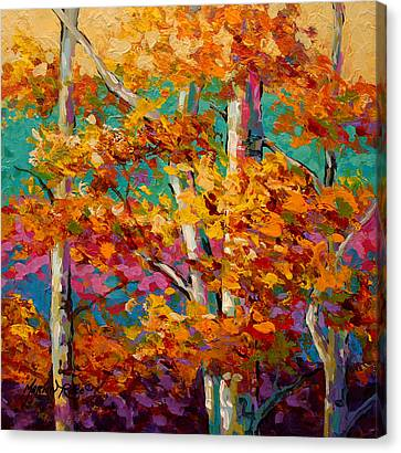 Abstract Autumn IIi Canvas Print by Marion Rose