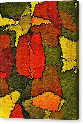 Canvas Print featuring the digital art Abstract Bloom by Terry Mulligan