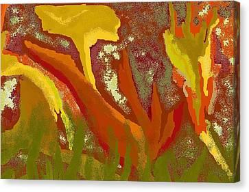 Abstract Cannas Canvas Print by Carole Boyd