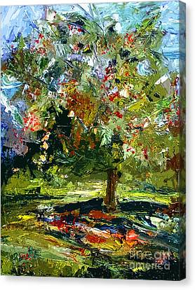 Abstract Cherry Tree  Canvas Print by Ginette Callaway