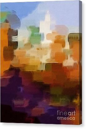 Abstract Cityscape Canvas Print by Lutz Baar