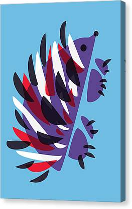 Abstract Colorful Hedgehog Canvas Print by Boriana Giormova