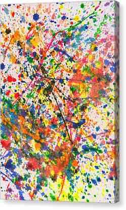 Abstract - Crayon - Mardi Gras Canvas Print by Mike Savad