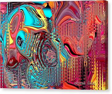 Abstract Do75 Canvas Print by Oksana Linde