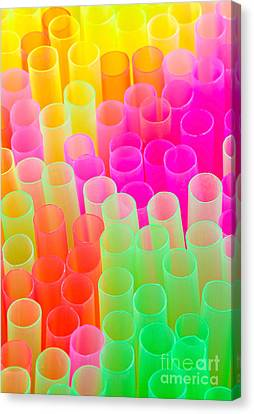 Abstract Drinking Straws Canvas Print by Meirion Matthias