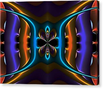 Abstract Fractal Kaleidoscope Butterfly Canvas Print by Gina Lee Manley