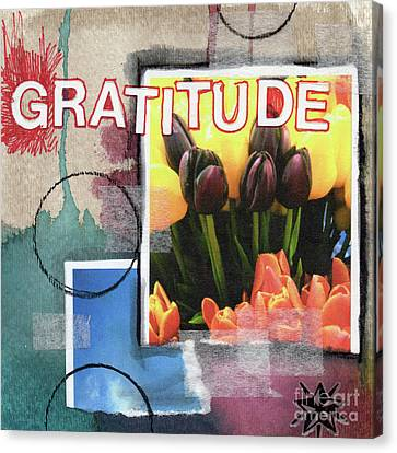 Abstract Gratitude Canvas Print by Linda Woods