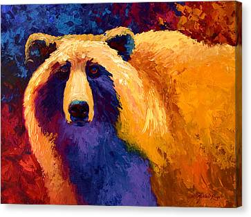 Abstract Grizz II Canvas Print by Marion Rose