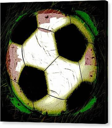 Abstract Grunge Soccer Ball Canvas Print by David G Paul