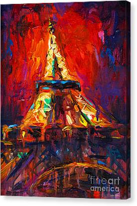 Abstract Impressionistic Eiffel Tower Painting Canvas Print by Svetlana Novikova