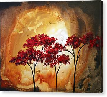 Abstract Landscape Painting Empty Nest 2 By Madart Canvas Print by Megan Duncanson