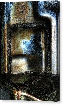 Abstract Of Steel Canvas Print by Scott  Wyatt