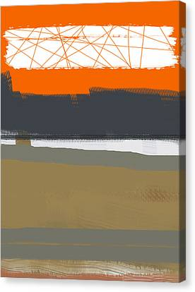 Abstract Orange 1 Canvas Print by Naxart Studio
