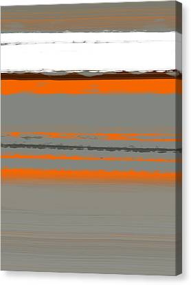 Abstract Orange 2 Canvas Print by Naxart Studio