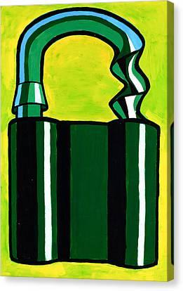 Abstract Padlock By Ivailo Nikolov Canvas Print by Boyan Dimitrov