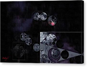 Abstract Painting - Black Canvas Print by Vitaliy Gladkiy