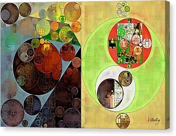 Abstract Painting - Clay Creek Canvas Print by Vitaliy Gladkiy