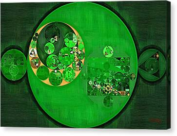 Abstract Painting - Deep Fir Canvas Print by Vitaliy Gladkiy