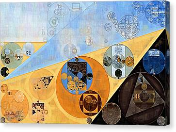 Abstract Painting - Indian Yellow Canvas Print by Vitaliy Gladkiy