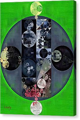 Abstract Painting - Kelly Green Canvas Print by Vitaliy Gladkiy