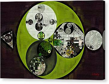 Abstract Painting - Olive Drab Canvas Print by Vitaliy Gladkiy