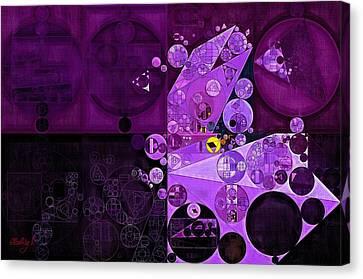 Abstract Painting - Rich Lilac Canvas Print by Vitaliy Gladkiy