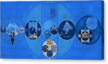 Abstract Painting - Sapphire Canvas Print by Vitaliy Gladkiy