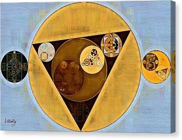 Abstract Painting - Satin Sheen Gold Canvas Print by Vitaliy Gladkiy