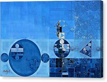 Abstract Painting - Tufts Blue Canvas Print by Vitaliy Gladkiy