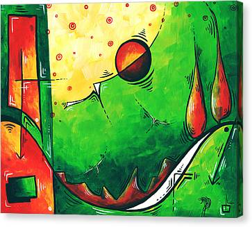 Abstract Pop Art Original Painting Canvas Print by Megan Duncanson