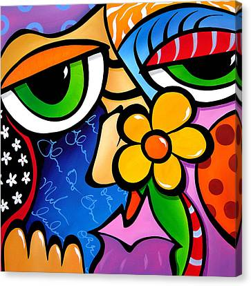 Abstract Pop Art Original Painting Scratch N Sniff By Fidostudio Canvas Print by Tom Fedro - Fidostudio