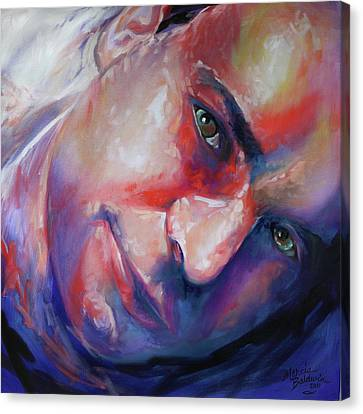 Abstract Portrait Canvas Print by Marcia Baldwin
