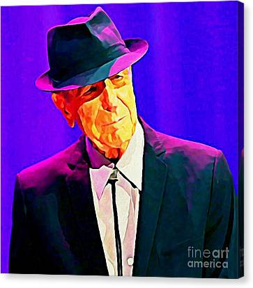 Abstract Portrait Of Leonard Cohen Canvas Print by John Malone
