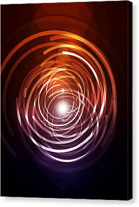 Abstract Rings Canvas Print by Michael Tompsett