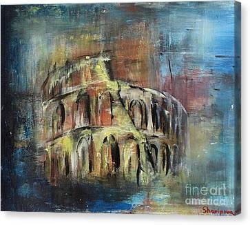 Abstract Rome Canvas Print by Elmira Sharipova