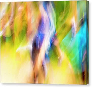 Abstract Running Canvas Print by Steven Ralser
