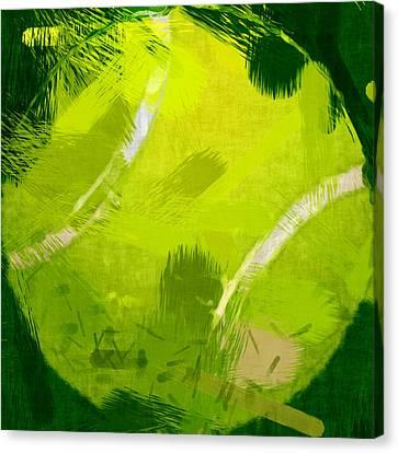 Abstract Tennis Ball Canvas Print by David G Paul