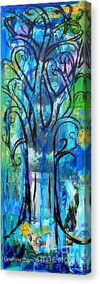 Abstract Tree In Spring Canvas Print by Genevieve Esson