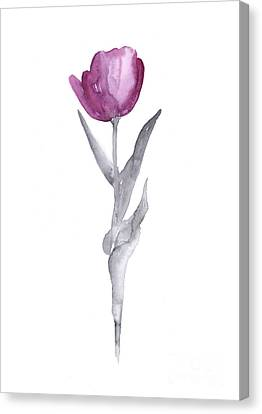 Abstract Tulip Flower Watercolor Painting Canvas Print by Joanna Szmerdt