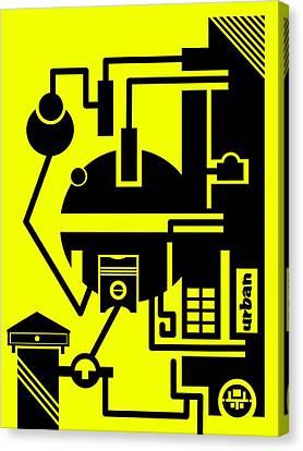 Abstract Urban 03 Canvas Print by Dar Geloni