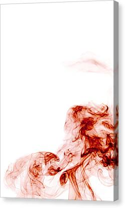 Abstract Vertical Blood Red Mood Colored Smoke Wall Art 01 Canvas Print by Alexandra K