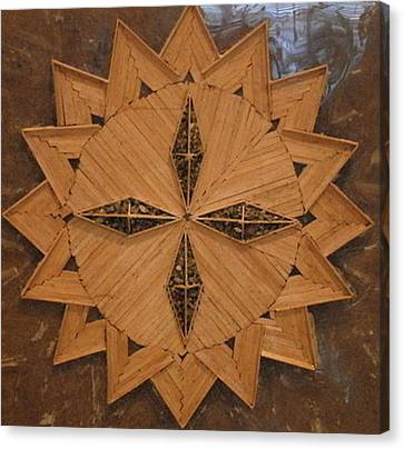 Abstract Wood Composition Canvas Print by Vincent Consiglio