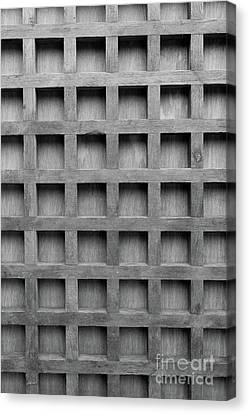Abstract Wooden Grid Pattern Canvas Print by Edward Fielding