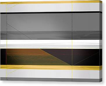 Abstract Yellow And Grey  Canvas Print by Naxart Studio