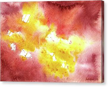 Abstract Yellow Connectors Canvas Print by Sean Seal
