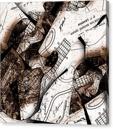 Abstracta 23 Strat No. 6 Canvas Print by Gary Bodnar