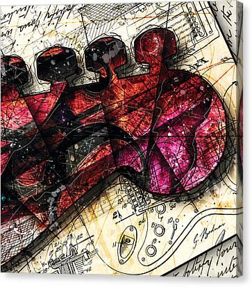 Abstracta_20 Fender Strat Canvas Print by Gary Bodnar