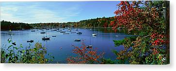 Acadia National Park In Autumn, Maine Canvas Print by Panoramic Images