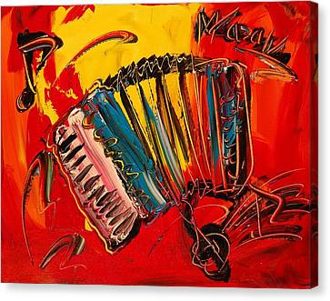 Accordeon Canvas Print by Mark Kazav