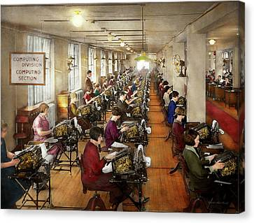 Accountant - The Enumeration Division 1924 Canvas Print by Mike Savad